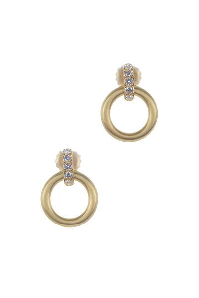 Caroline Ellen - 18K Yellow Gold Large Doorknocker Earrings