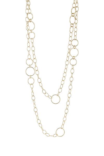 Caroline Ellen - 20K Yellow Gold Station Chain Necklace