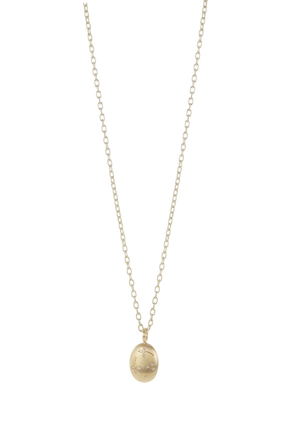 Caroline Ellen 20K Yellow Gold Lentil Pendant Necklace