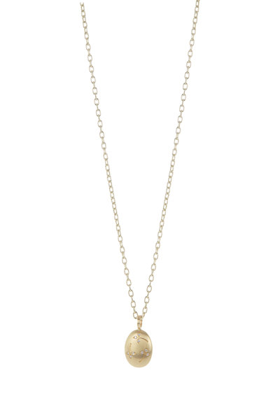 Caroline Ellen - 20K Yellow Gold Lentil Pendant Necklace