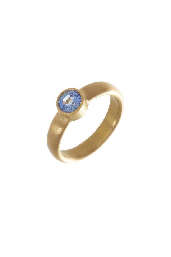 Caroline Ellen 22K Yellow Gold Blue Sapphire Ring