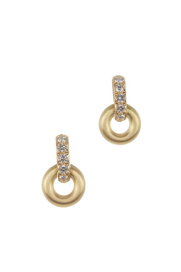 Caroline Ellen 18K Yellow Gold Door Knocker Dangle Earrings