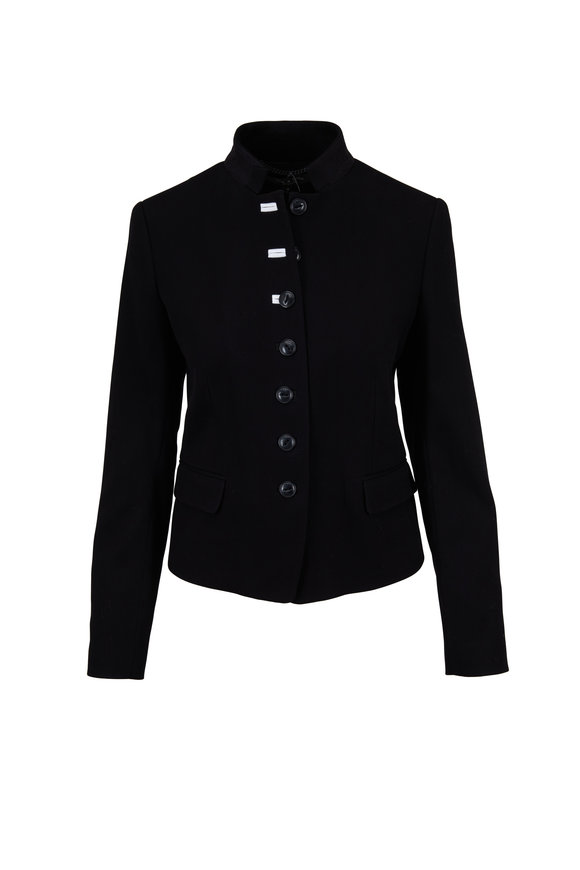 Rag & Bone Rei Black Cotton Blazer