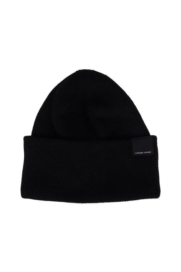 Canada Goose Classic Black Wool Hat