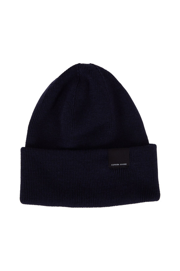 Canada Goose Classic Navy Wool Hat
