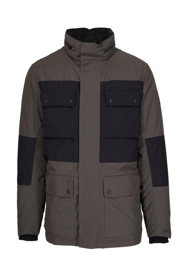 Belstaff Explorer Moss Green & Black All-Weather Jacket