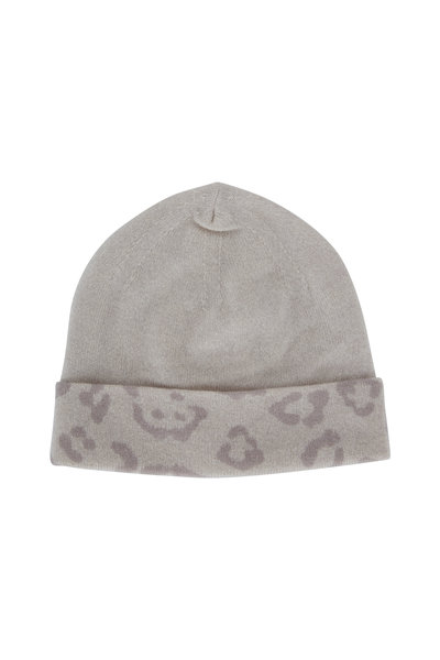 Kinross - Birch Cashmere Leopard Print Reversible Hat