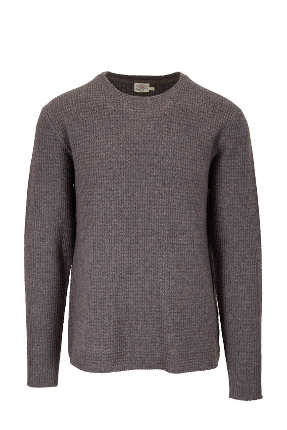 Faherty Brand Walnut Wool & Cashmere Crewneck Pullover