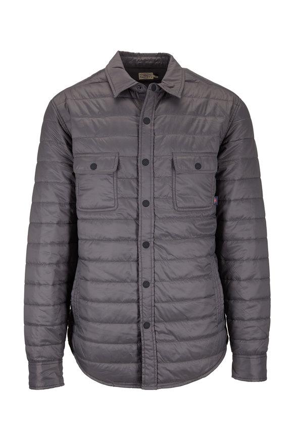 Faherty Brand Gray Atmosphere Nylon Shirt Jacket