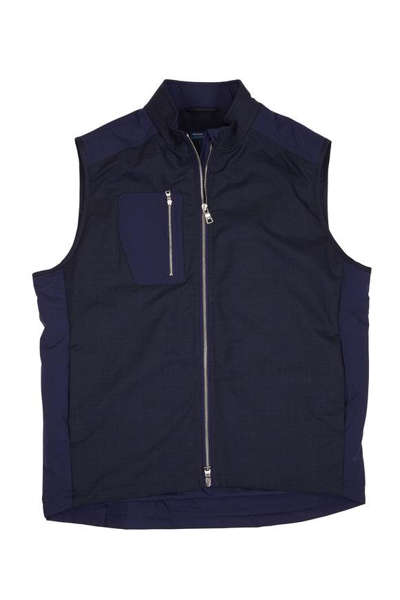 Peter Millar Navy Blue Wool Blend Performance Vest