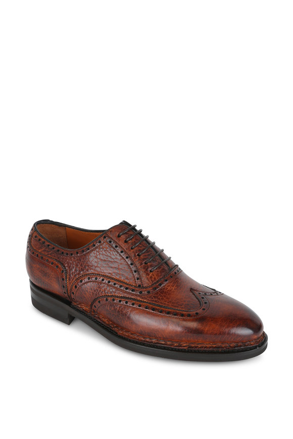 Bontoni Libertino Whiskey Leather Wingtip Derby