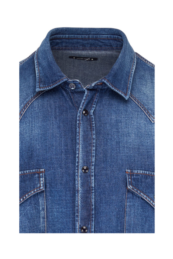 Jacob Cohen  Dark Denim Cotton Shirt