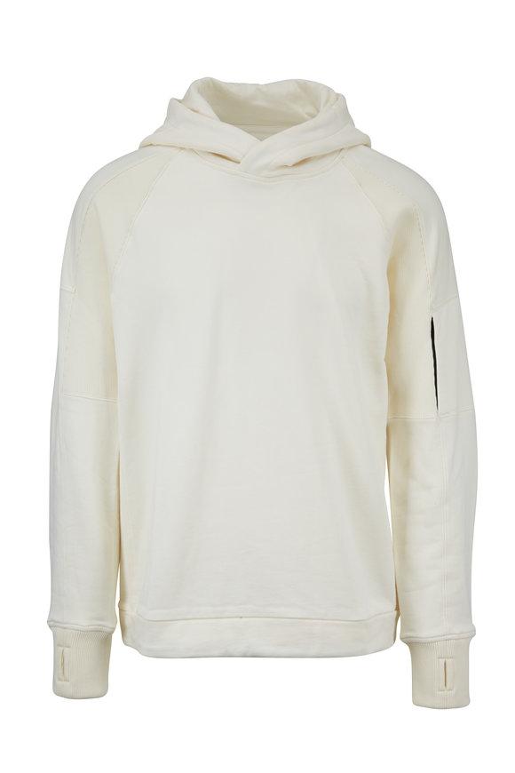 CP Company White Cotton Drawstring Hoodie
