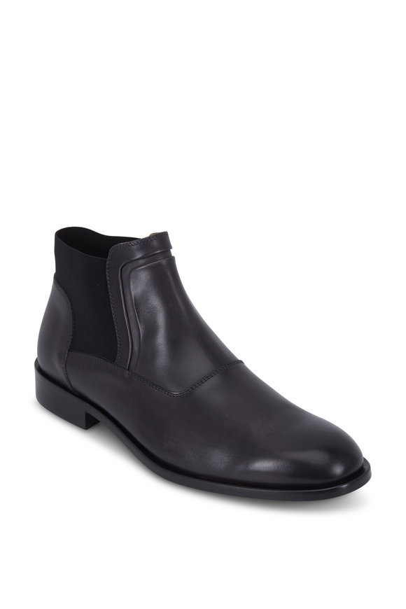 Bruno Magli Sancho Dark Gray Leather Boot