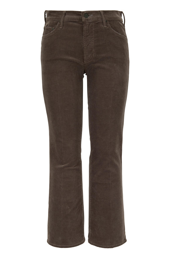 Mother Denim The Outsider Taupe Corduroy Crop Jean