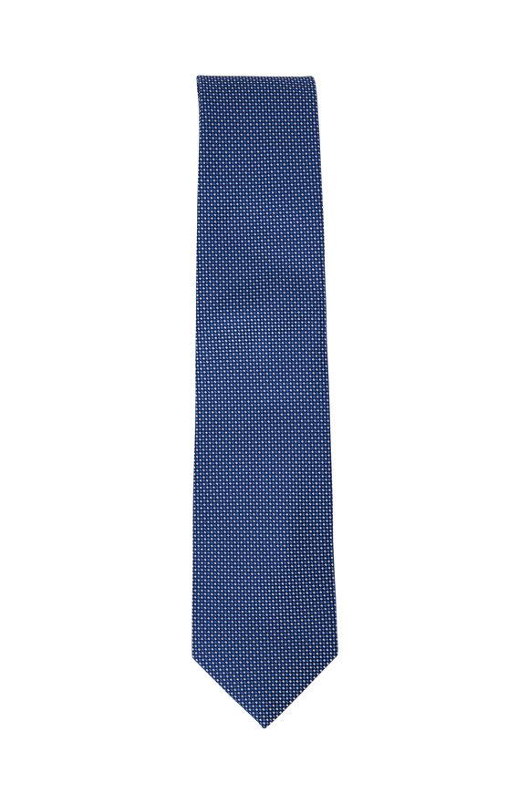 Eton  Blue Silk Necktie