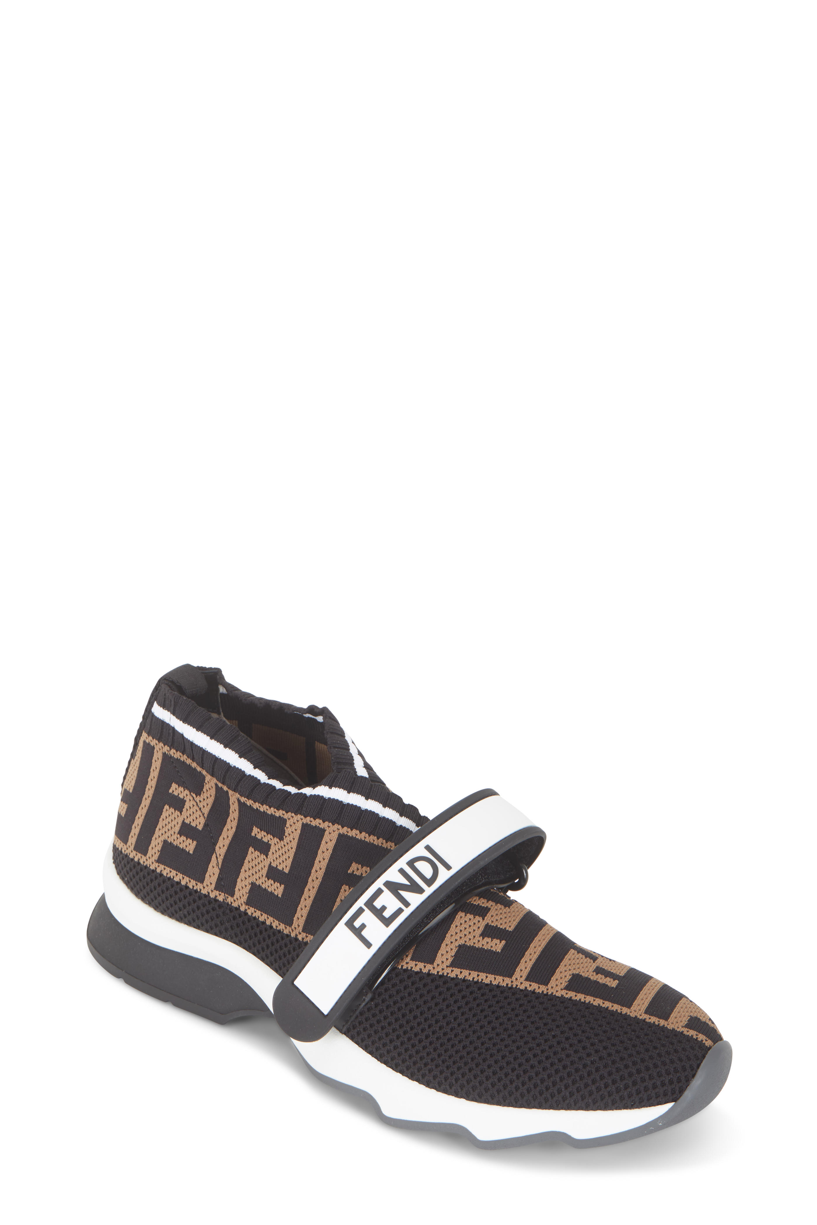 e703a90814e Fendi - Rockoko Black FF Knit Sneakers | Mitchell Stores