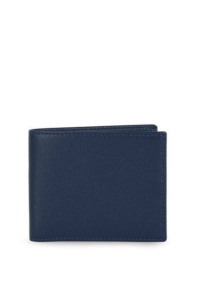 Ettinger Leather - Capra Blue Leather Billfold Wallet