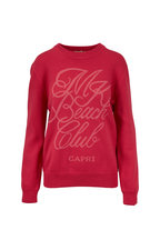 Michael Kors Collection - Flamingo Pink Beach Club Sweatshirt