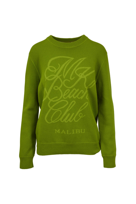 Michael Kors Collection Pear & Lime Green Beach Club Sweatshirt