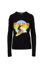 Michael Kors Collection - Black Surf Screenprint Long Sleeve T-Shirt