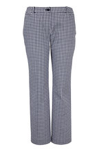 Michael Kors Collection - Maritime & Optic White Gingham Crop Pant