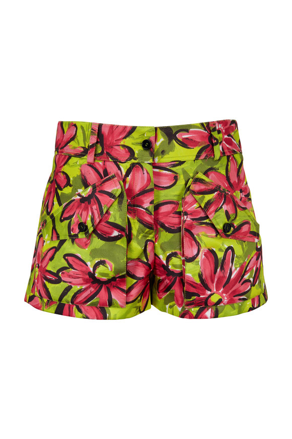 Michael Kors Collection Flamingo Daisy Floral Cargo Short