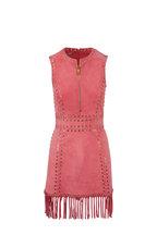 Michael Kors Collection - Flamingo Pink Suede Fringe Dress