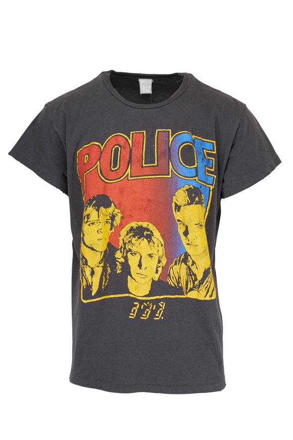 Madeworn Police Black T-Shirt