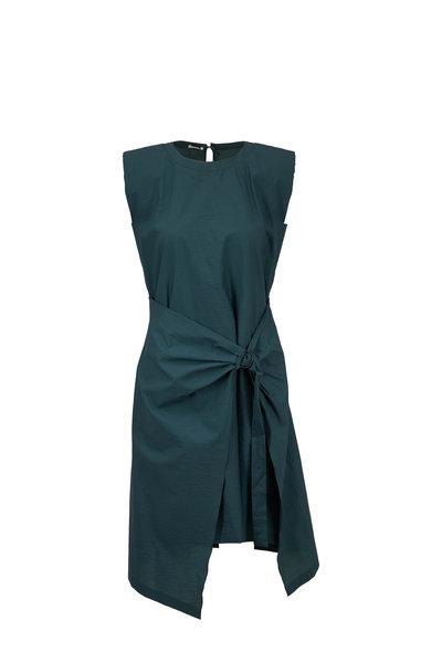 Brunello Cucinelli - Jungle Poplin Wrap Front Cap Sleeve Dress
