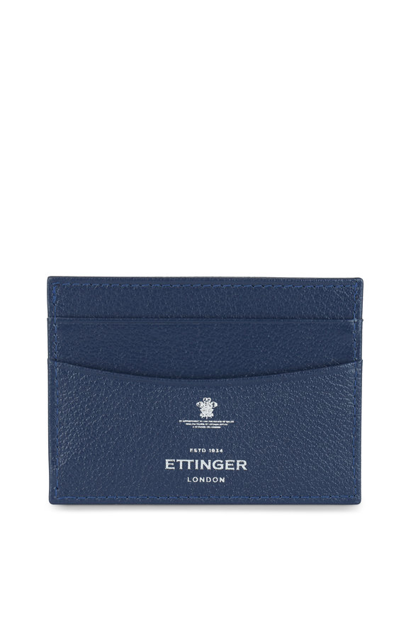 Ettinger Leather Marine Blue Leather Card Case
