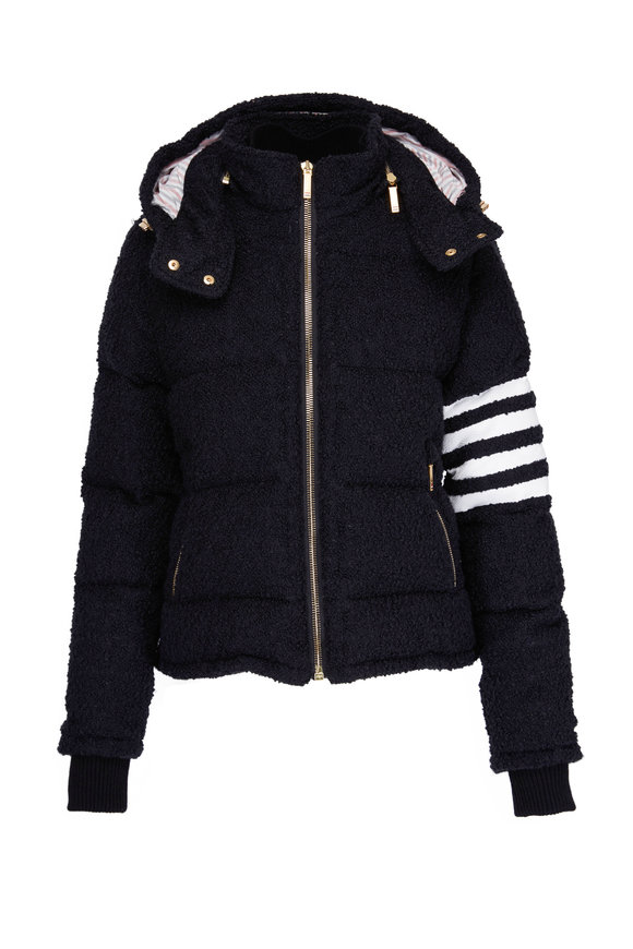 Thom Browne Black & White Striped Arm Down Ski Jacket