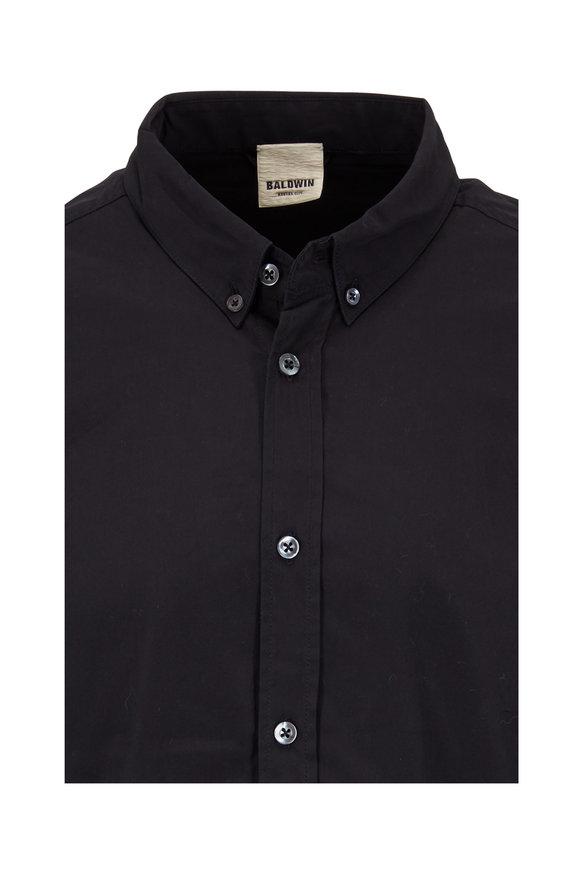 Baldwin Standard Black Cotton Button Down Shirt