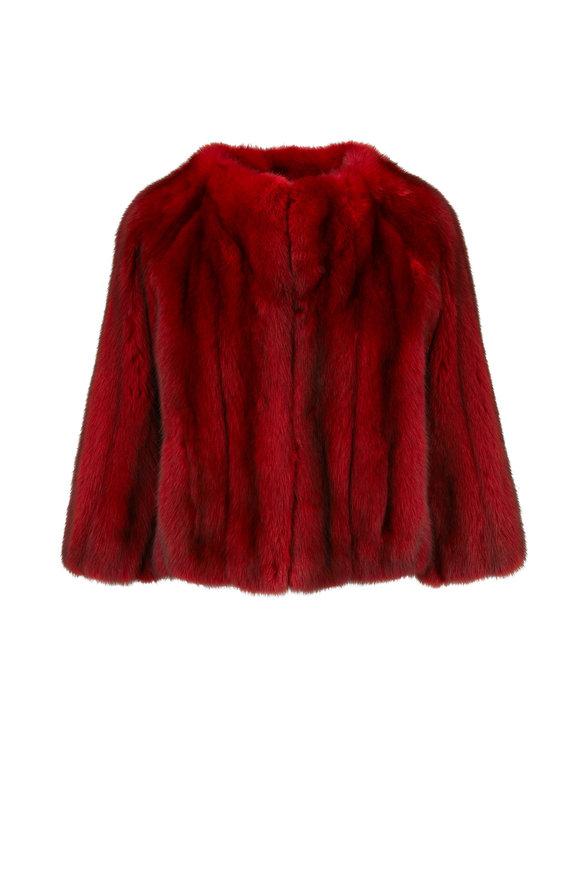Oscar de la Renta Furs Crimson Sable Jacket