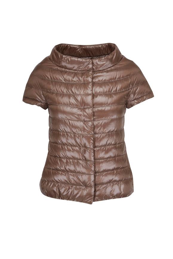 Herno Bronze Cap Sleeve Jacket