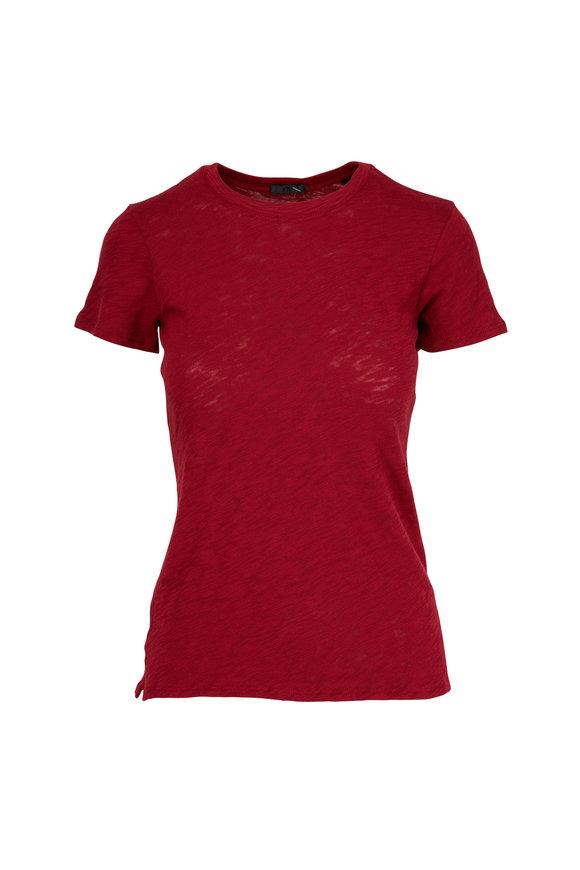 A T M Red Schoolboy Crewneck T-Shirt