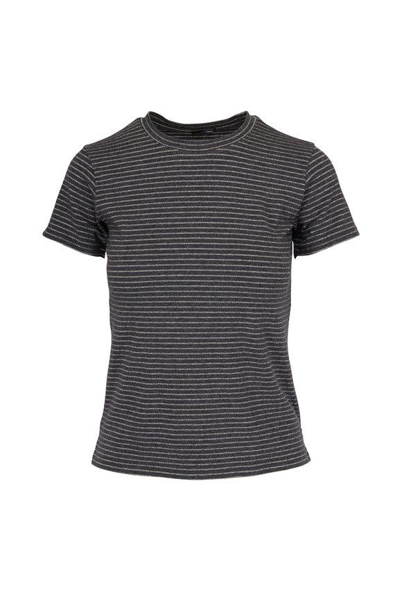 A T M Charcoal & Gold Sparkle Jersey T-Shirt