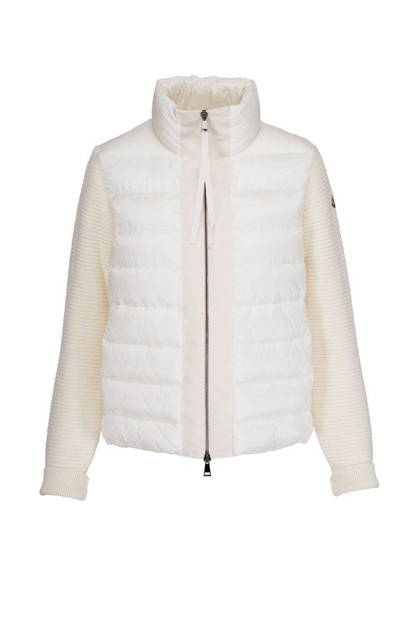 Moncler Maglione Tricot White Puffer Jacket