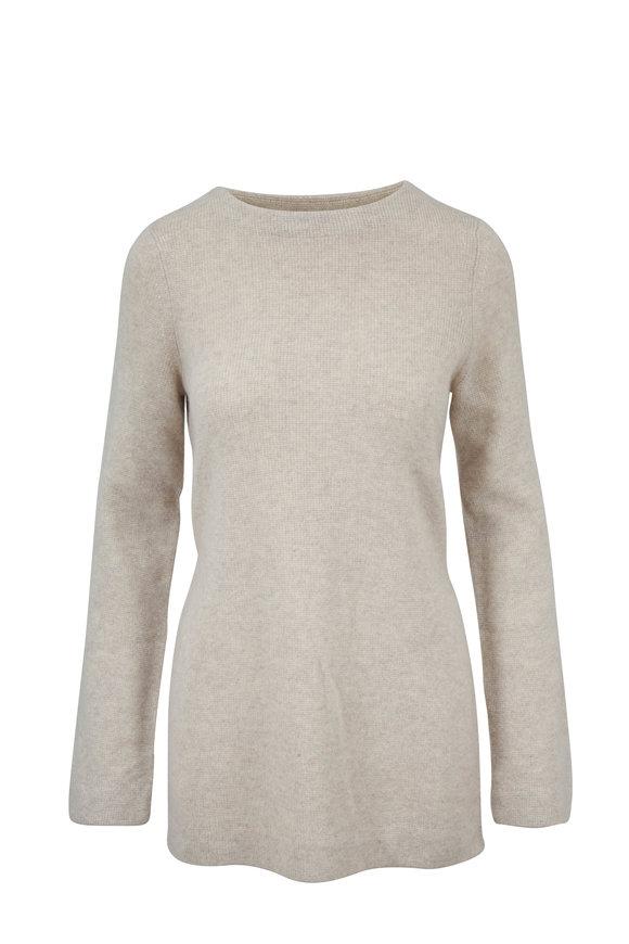 Le Kasha Havane Light Beige Cashmere Belted Sweater