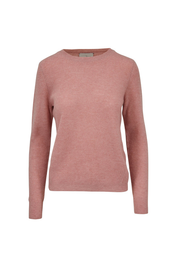 Le Kasha Dublin Pink Cashmere Ribbed Sweater