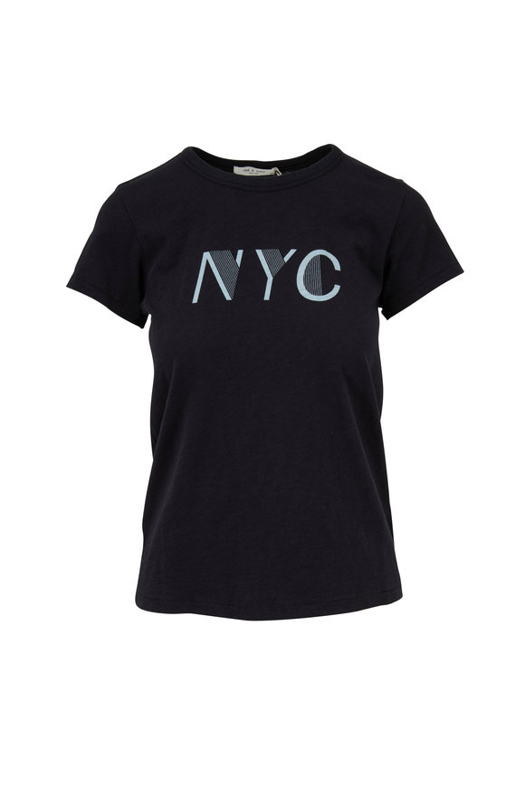 Rag & Bone New York Black Graphic T-Shirt