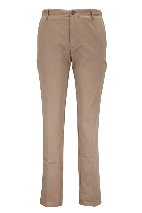 J.W. Brine New Drake Caramello Stretch Cotton Cargo Pant