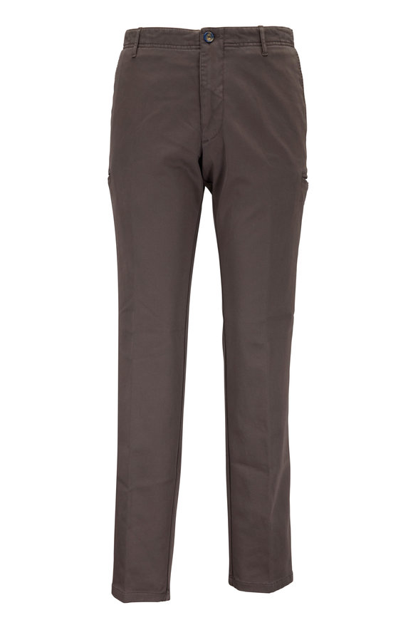 J.W. Brine New Drake Mouse Gray Stretch Cotton Cargo Pant