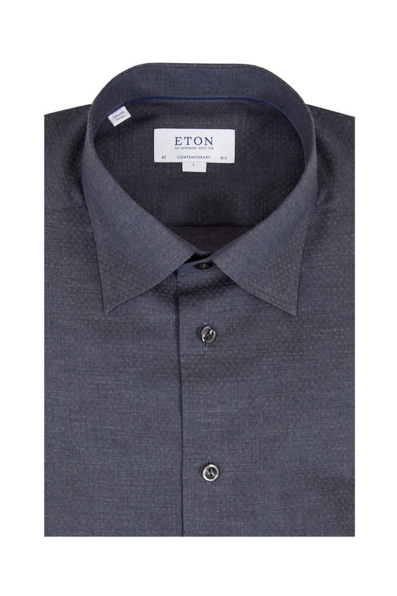 Eton Navy Blue Circle Contemporary Fit Sport Shirt