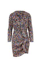 Veronica Beard - Minna Black Multi Floral Long Sleeve Ruffle Dress
