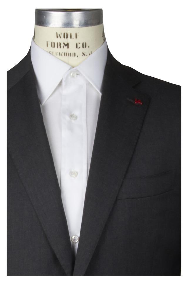 Medium Grey Wool Solid Suit
