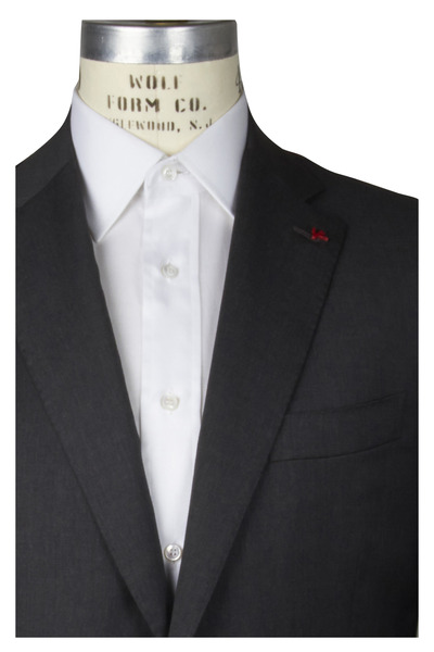 Isaia - Medium Grey Wool Solid Suit
