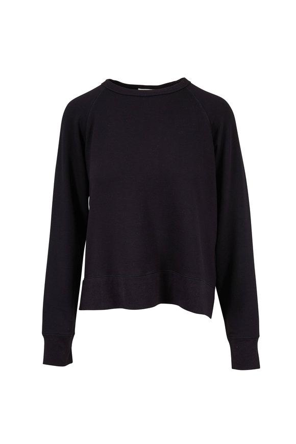 Rag & Bone Athletic Black Modal Crewneck Sweater