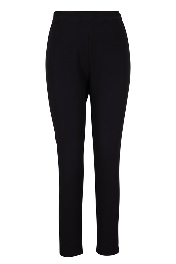 Safiyaa Adriana Black Side-Zip Cropped Pant