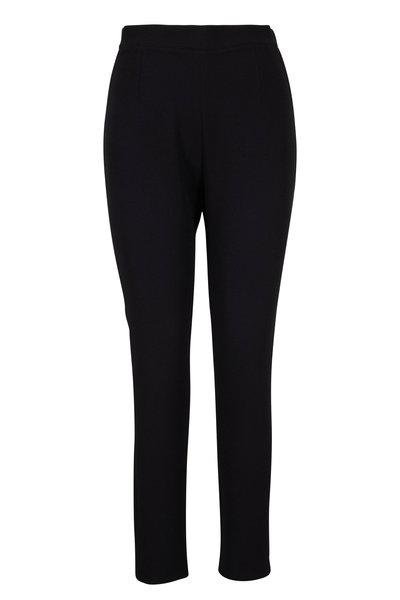 Safiyaa - Adriana Black Side-Zip Cropped Pant